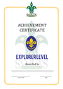 Thumbnail certificate template scouts level award explorer final