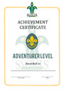 Thumbnail certificate template scouts level award adventurer final